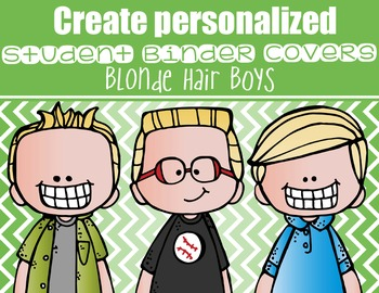 the BRAINY BUNCH - BOYS - Student Binder Covers - blonde hair  {Melonheadz}