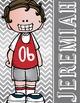 the BRAINY BUNCH - BOYS - Student Binder Covers - brown hair  {Melonheadz}