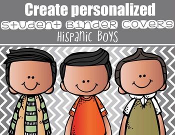 the BRAINY BUNCH - BOYS - Student Binder Covers - hispanic  {Melonheadz}