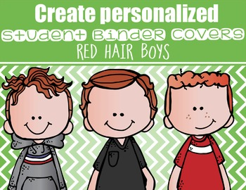 the BRAINY BUNCH - BOYS - Student Binder Covers - red hair  {Melonheadz}