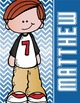 the BRAINY BUNCH - BOYS - Student Binder Covers - red hair
