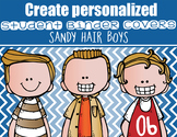 the BRAINY BUNCH - BOYS - Student Binder Covers - sandy hair  {Melonheadz}
