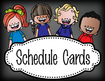 pastel CHALK {melonheadz}- Classroom Decor - Schedule Cards -  editable