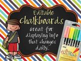 the BRAINY BUNCH - Class Decor: editable chalkboard POSTERS/ Bistro Chalk Marker