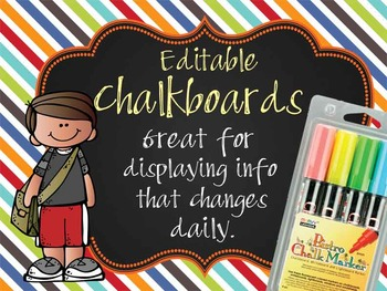 the BRAINY BUNCH - Class Decor: editable chalkboard POSTER
