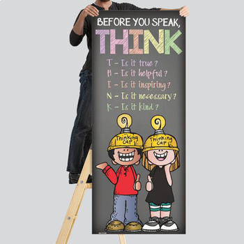 pastel CHALK {melonheadz} - Classroom Decor: LARGE BANNER, Before You Speak