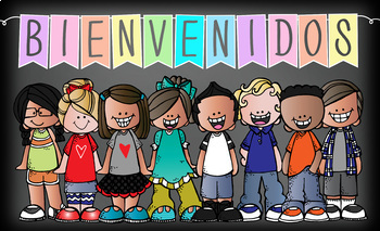 the BRAINY BUNCH - Classroom Decor:  BANNER, Spanish, Bienvenido {Melonheadz}