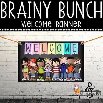 pastel CHALK {melonheadz} - Classroom Decor: MEDIUM BANNER, Welcome