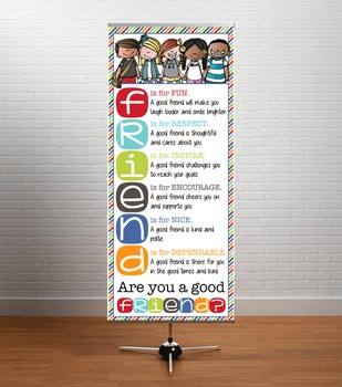 the BRAINY BUNCH - Classroom Decor: LARGE BANNER, FRIENDS