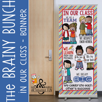 The Brainy Bunch Classroom Decor Large Banner In Our Class Tpt