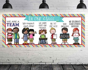 the BRAINY BUNCH - Classroom Decor: LARGE BANNER, In Our Class - Horizontal