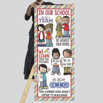the BRAINY BUNCH - Classroom Decor: LARGE BANNER, In Our School ...