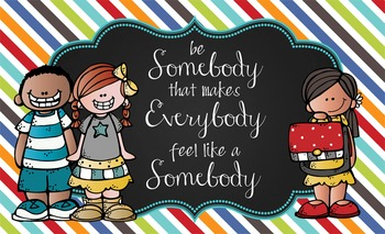 the BRAINY BUNCH - Classroom Decor: MEDIUM BANNER, Be Somebody