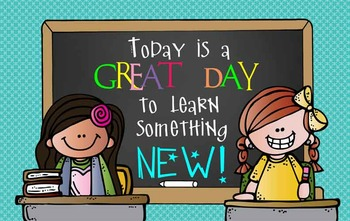 the BRAINY BUNCH - Classroom Decor: MEDIUM BANNER, Today is a Great Day