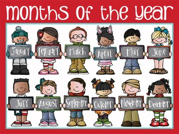 the BRAINY BUNCH - Classroom Decor: POSTER - 18 x 24, Months of the Year