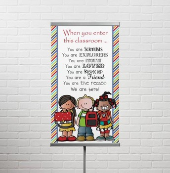 the BRAINY BUNCH - Classroom Decor: SMALL BANNER, When You Enter this Class