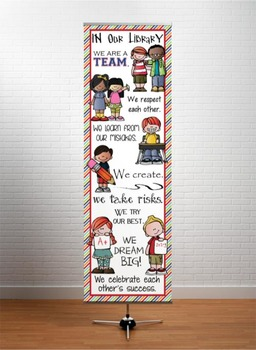 the BRAINY BUNCH - Classroom Decor: X-LARGE BANNER, In Our Library ...