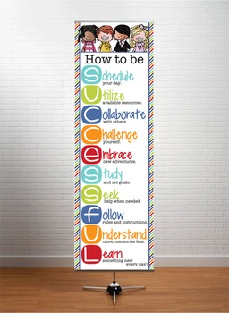 the BRAINY BUNCH - Classroom Decor: XLARGE BANNER, How to be Successful