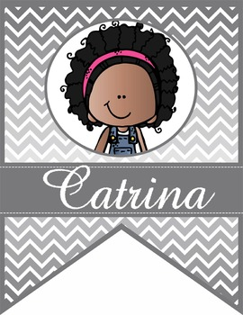 the BRAINY BUNCH - GIRLS - CLASSROOM Character BANNER - primary colors