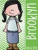 the BRAINY BUNCH - GIRLS - Student Binder Covers - black hair  {Melonheadz}
