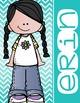 the BRAINY BUNCH - GIRLS - Student Binder Covers - black hair  {Melonheadz}