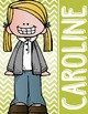 the BRAINY BUNCH - GIRLS - Student Binder Covers - blonde