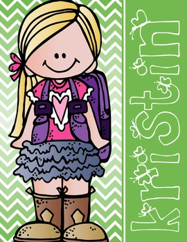 the BRAINY BUNCH - GIRLS - Student Binder Covers - blonde hair  {Melonheadz}
