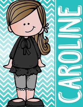 the BRAINY BUNCH - GIRLS - Student Binder Covers - brown hair  {Melonheadz}
