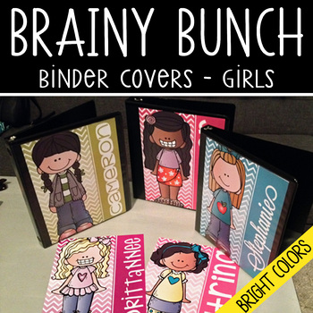 the BRAINY BUNCH - GIRLS - Student Binder Covers - pastel colors - {Melonheadz}