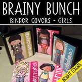 the BRAINY BUNCH - GIRLS - Student Binder Covers - pastel