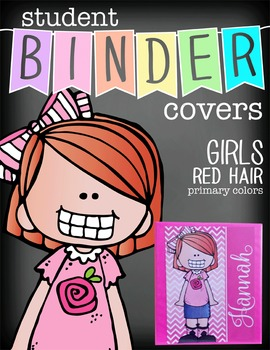 the BRAINY BUNCH - GIRLS - Student Binder Covers - red hair  {Melonheadz}