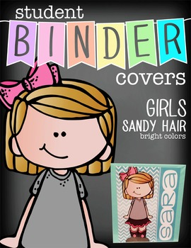the BRAINY BUNCH - GIRLS - Student Binder Covers - sandy hair  {Melonheadz}