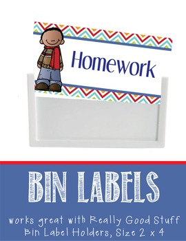 the BRAINY BUNCH - Labels for Bin Holders, MS Word / editable