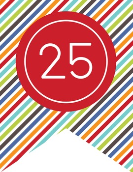 the BRAINY BUNCH - Number Line Banner, 1 to 25, EDITABLE to continue