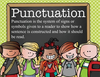 the BRAINY BUNCH - Punctuation Posters / MS Word, editable