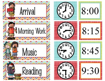 the BRAINY BUNCH - Schedule Cards / editable MS WORD
