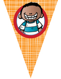 the BRAINY BUNCH theme - Classroom Decor - Triangle Banners, CREATE a BANNER