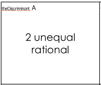 the Discriminant and Quadratic Equations