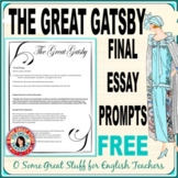 The Great Gatsby Final Essay Prompts