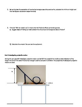 Lab: The Law of Conservation of Mechanical Energy - Modeling Approach