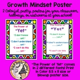 the Power of YET poster growth mindset positive affirmation motivational