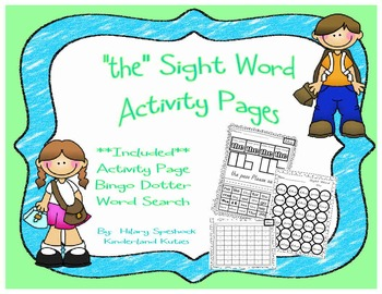 """the"" Sight Word Activity Pages"
