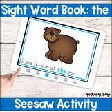 the Sight Word Book Seesaw Activity Distance Learning