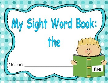 "Sight Word Practice Book and Emergent Reader-""the"""