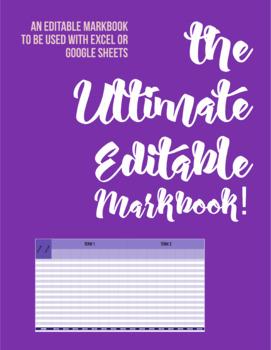 the ULTIMATE EDITABLE MARKBOOK