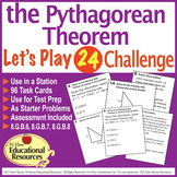 Pythagorean Theorem - 'Lets Play 24 Challenge Game' - 96 M