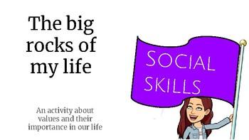 The big rocks of my life - social skills - sub plan