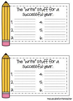 The Write Stuff {Craftivity}