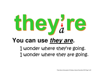 their there they're homophone posters