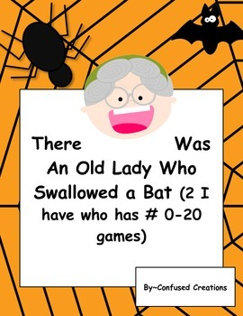 I Have Who Has 0-20 There Was An Old Lady Who Swallowed A Bat Themed!